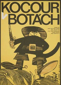 Posteritati: The New Adventures of Puss in Boots R1970 Czech Republic A3 (12x17)