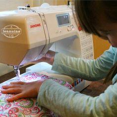 A Jennuine Life: Tiny Sewists: Teaching Kids to Sew :: Lesson 2