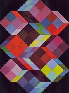 Tridem K, by Vasarely