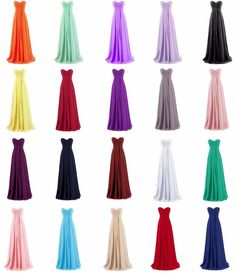 Long Bridesmaid Dress Chiffon Formal Prom Ball Party Pageant Gowns Size6+8+10+++ #Handmade #ALine #Formal