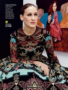 Sarah Jessica Parker in Valentino Spring 2014. I am IN LOVE with this dress