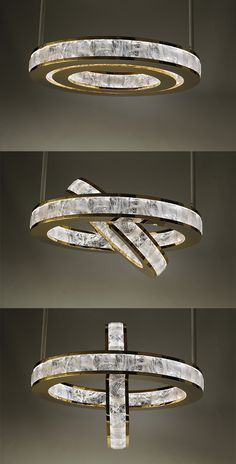 ELYSEE - Atelier Alain Ellouz The Elysée chandelier consists of two interlocking metal rings which are set with stunning individual rock crystals. Linear Lighting, Luxury Lighting, Chandelier Lighting, Modern Lighting, Jewelry Store Design, Wood Interior Design, Ceiling Installation, Led Ceiling Lights, Lampe Led
