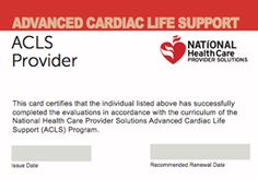ACLS Renewal, ACLS Online Renewal, PALS Certification, PALS Online, BLS Certification, Basic Life Support