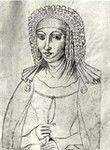 25th great grandmother, Hildegarde d'Aquitaine (de Bourgogne) (c.1056-1104)