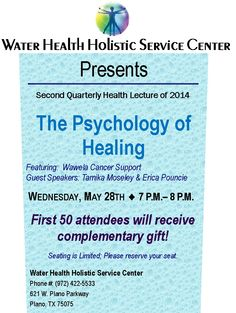 Please save the date May 28th - Plano TX. I will be speaking on sickle cell and natural healing!