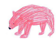 #bear #drawing #pink