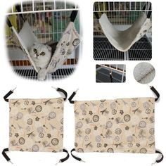 Pet Cat Rat Rabbit Ferret Chinchilla Comforter Hanging Hammock Bed Cover Bag at…