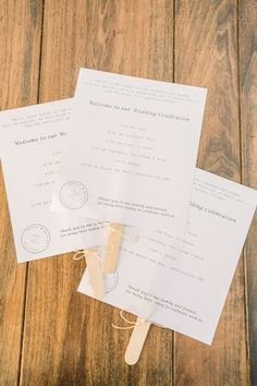 Love the postmark logo! #Programs |See more of the wedding on SMP: http://www.StyleMePretty.com/2014/02/03/intimate-copain-winery-wedding/  Matt Edge Wedding Photography