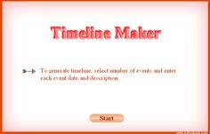 free timeline maker from Softschools.com