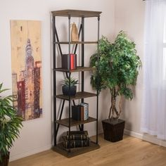 Shop for Appleton Five-Shelf Industrial Bookcase by Christopher Knight Home. Get free shipping at Overstock.com - Your Online Furniture Outlet Store! Get 5% in rewards with Club O! - 17343587