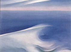 Georgia O'Keeffe Blue Wave Maine 1926 - Reproduction Oil Paintings