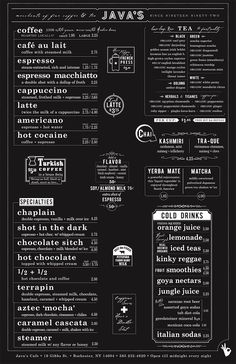 35 Beautiful Restaurant Menu Designs Restaurants often over look their menu designs. sure probably visited numerous restaurants with ugly menus. If a restaurant owner, you might think that the Menu Board Design, Cafe Menu Design, Food Menu Design, Restaurant Menu Design, Restaurant Menu Boards, Cafe Menu Boards, Restaurant Owner, Coffee Shop Menu, Coffee Shop Design