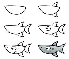 How to draw a... SHARK