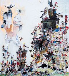 Kinki Texas, Teenage Caesar as Romulus and Remus in one person, 2015, Mixed media, 220 x 200 cm