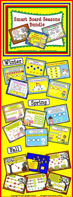 SMART Board Seasons Bundle:  Includes my my Winter, Spring and Fall SMART Board Lessons.