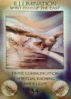 """34 Illumination"" Spirit of the Wheel Meditation Deck par Jody Bergsma"