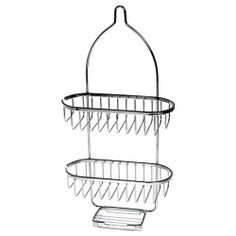 hold n storage square basket w soap tray shower caddy