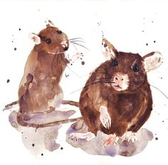 RATS Art Print FREE shipping rat paintings rat art by eastwitching, $18.00