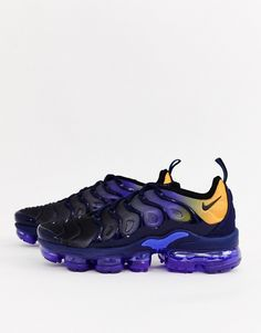 buy popular c5b8d 590ad Nike – Air Vapormax Plus – Sneaker in Blau und Gelb   ASOS
