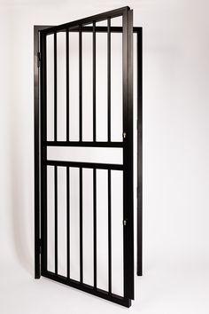 Metal Garden Fence Gate Single Door Patio Side Gate Security Heavy-duty Steel
