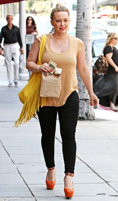 Hilary Duff three months after baby