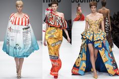 Moschino by Jeremy Scott - Fall Winter 2014 - Crispy chips fashion trend