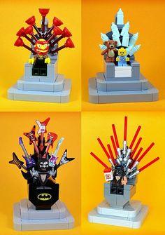 Game of Thrones spoof Lego Mecha, Lego Robot, Lego Duplo, Lego Display, Lego Minifigure Display, Lego Design, Legos, Lego Sculptures, Micro Lego