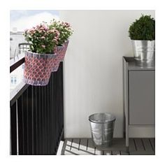 IKEA - SOLROSFRÖ, Plant pot with holder