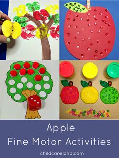 Here are some of my favorite apple themed activities for developing fine motor skills.