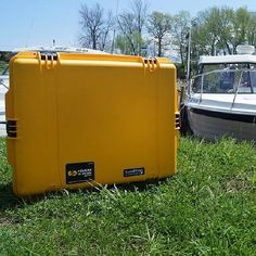 Fan Photo of the Day! This Pelican case is preparing for #Summer by soaking up the sun lakeside. #GoPro #fishing