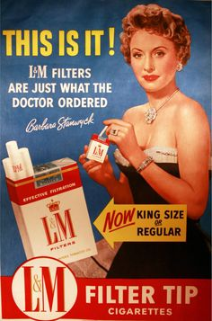 my only problem is finding a way to play my fortieth fallen female in a different way from my thirty-ninth ― barbara stanwyck George Clooney, Angelina Jolie, Vintage Advertisements, Vintage Ads, Vintage Posters, Vintage Cigarette Ads, I Quit Smoking, Barbara Stanwyck, Retro Vintage