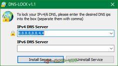 DNS-Lock 1.1   DNS-Lock--DNSサーバーロック後--オールフリーソフト
