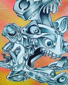 #Present  #Gomjahrash #Art #Streetart #style #artist #MadeInFance #Toulouse #Hrack
