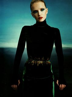 """""""Darkness Falls"""" Lily by Emma Summerton for Vogue UK"""