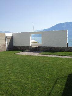 Zicht op meer van Genève vanuit de tuin van Villa Le Lac (La Petite Maison) 1923-1924 Vevey (CH) Architect, Le Corbussier