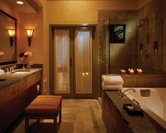 Ventana Inn & Spa, Bathroom in the rooms, they also have wood burning fire places... yummy