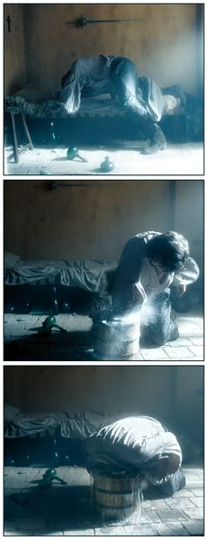 The Musketeers - Athos, because even if its a repin, its the great opening scene for Athos <3