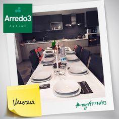Ecco la nuova LUNA decorata per un'occasione speciale! Bella vero? Grazie a Valeria da Castrovillari per aver condiviso  con noi la sua #myArredo3! http://www.arredo3.it/cucine-moderne/cucina-moderna-luna/  #myArredo3