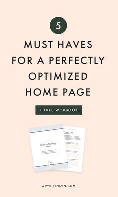 Optimized Home Page   blog design   web design layout   website design   WordPress design   Squarespace design   newsletter tips   blogging tips   entrepreneur tips
