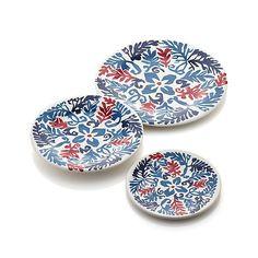 Vinca Blue Melamine Plates | Crate&Barrel