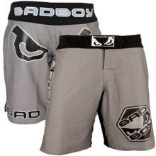 Bad Boy Legacy fight Shorts in gray only at £32.99 available in various sizes
