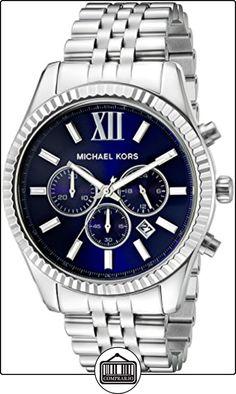 Michael Kors MK8280 - Reloj con correa de piel para hombre, multicolor de  ✿ Relojes para hombre - (Gama media/alta) ✿