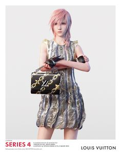 """The """"Series 4"""" Louis Vuitton ad featuring Lightning by Tetsuya Nomura & VM of Square Enix."""