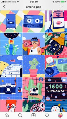 15 AMAZING Instagram Feed ideas for Artists Instagram Feed Layout, Feeds Instagram, Instagram Grid, Instagram Design, Instagram Story Ideas, Layout Inspiration, Graphic Design Inspiration, Web Responsive, Posca Art