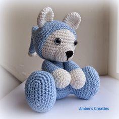 Amber's Creaties: Beertje in pijama, #haken, gratis patroon, Nederlands, beer, amigurumi, knuffel,