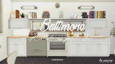 Baltimore Kitchen Part 2 at Pyszny Design • Sims 4 Updates