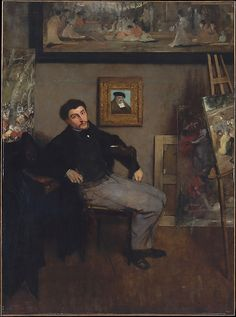 Edgar Degas (French, 1834–1917). James-Jacques-Joseph Tissot (1836–1902), ca. 1867–68. The Metropolitan Museum of Art, New York. Rogers Fund, 1939 (39.161)