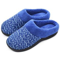 3ebeaf0d0998 Wishcotton Women s Slip On Knit Memory Foam Slippers French Terry Lining  Indoor Outdoor House Shoes