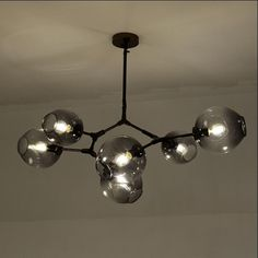New style designs Chandeliers light for room Black painted Gold painted Chandeliers lamp with options color glass