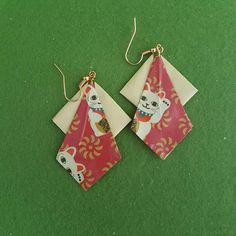This item is unavailable Faux Stained Glass, Oragami, Handmade Items, Handmade Gifts, Cat Lover Gifts, Wood Signs, Farmhouse Decor, Dangle Earrings, Dangles